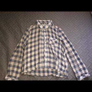 Sheer Flannel Blouse